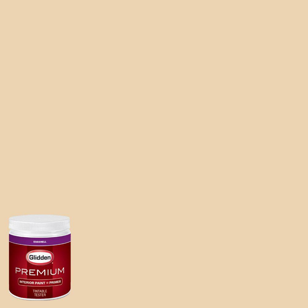 Glidden Premium 8 Oz Hdgy10 Ivory Cream Eggshell Interior Paint Sample With Primer Hdgy10p