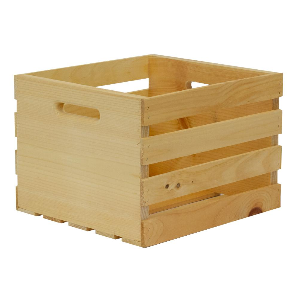 Crates & Pallet Crates and Pallet 13.5 in. x 12.5 in. x 9.5 in. Medium Wood Crate