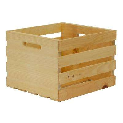 Crates and Pallet 13.5 in. x 12.5 in. x 9.5 in. Medium Wood Crate