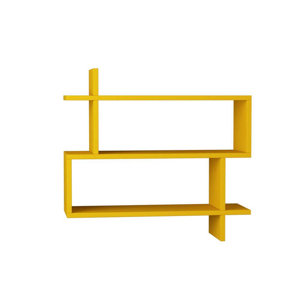 Ada Home Decor Westcott Mustard Mid-Century Modern Wall Shelf