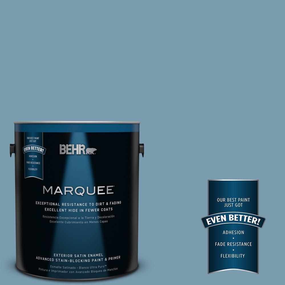 BEHR MARQUEE 1-gal. #550F-4 Cool Dusk Satin Enamel Exterior Paint