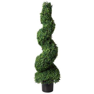 50 In Artificial Boxwood Spiral Topiary Tree