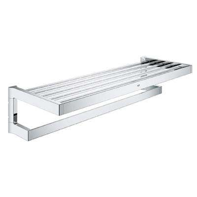 Selection Cube 1-Bar Towel Rack in StarLight Chrome
