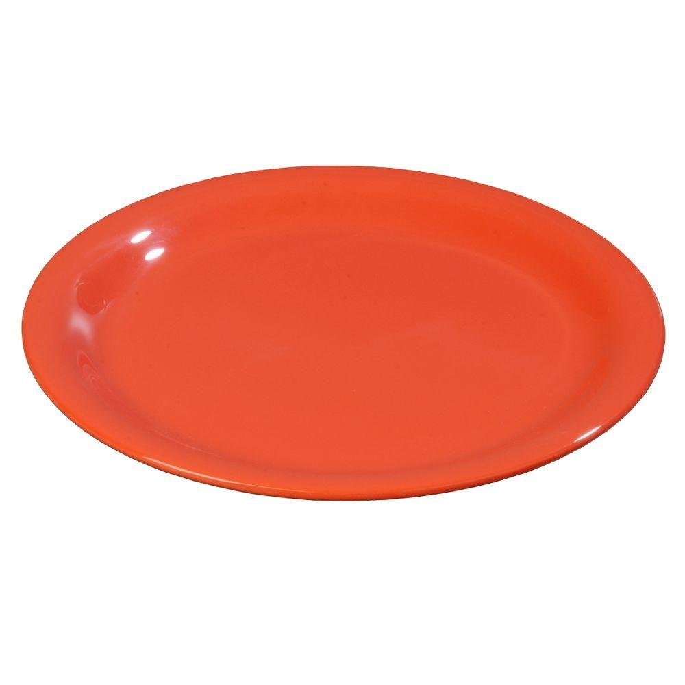 6.56 in. Diameter Melamine Narrow Rim Pie Plate in Sunset Orange (Case of 48)