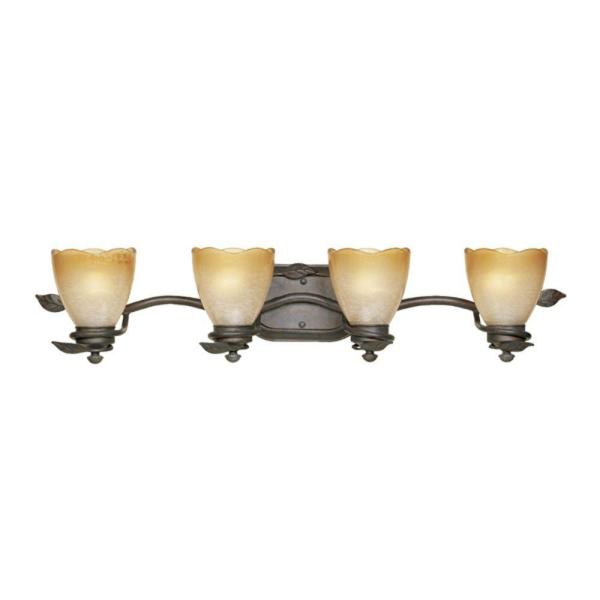 Timberline 4-Light Old Bronze Wall Mount Vanity Light