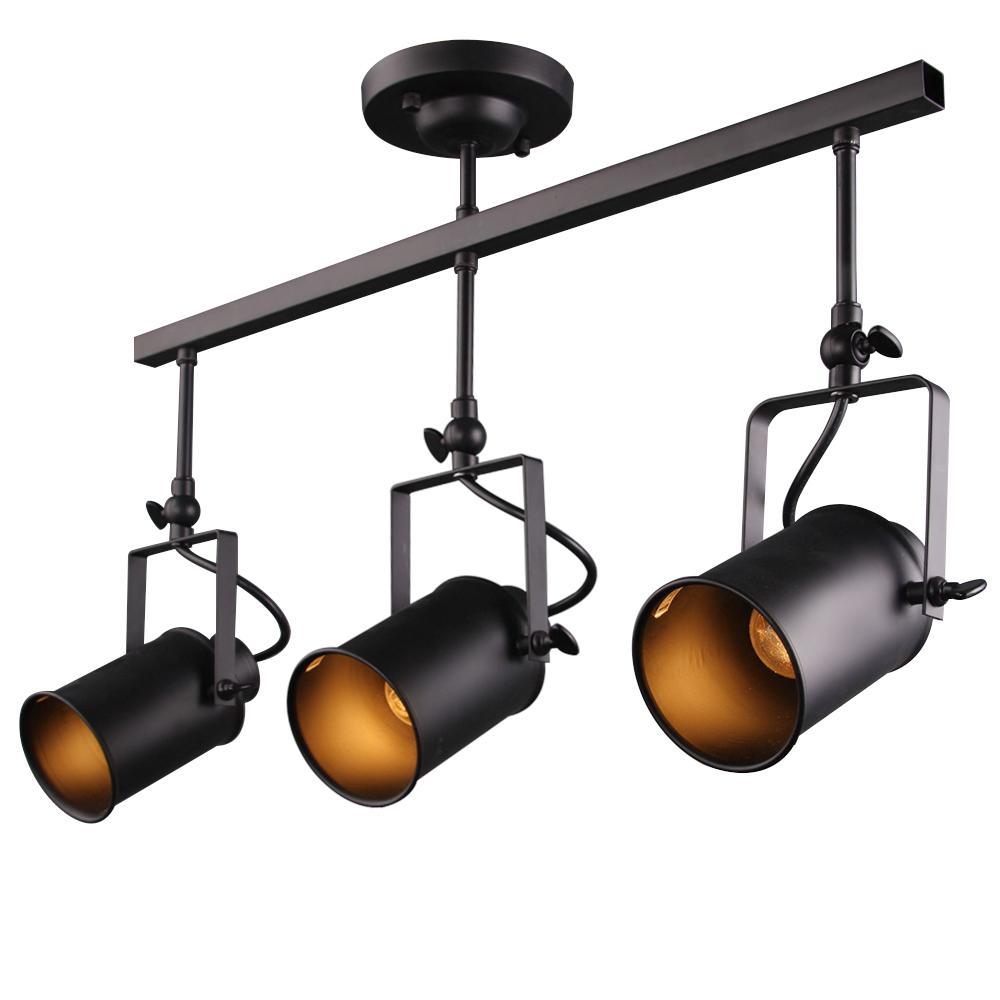 2 ft. 3-Light Black Track Lighting Kit