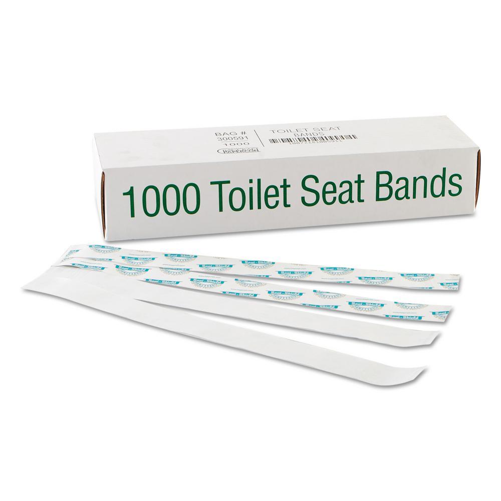 Sani/Shield Printed Toilet Seat Band (1000-Count)
