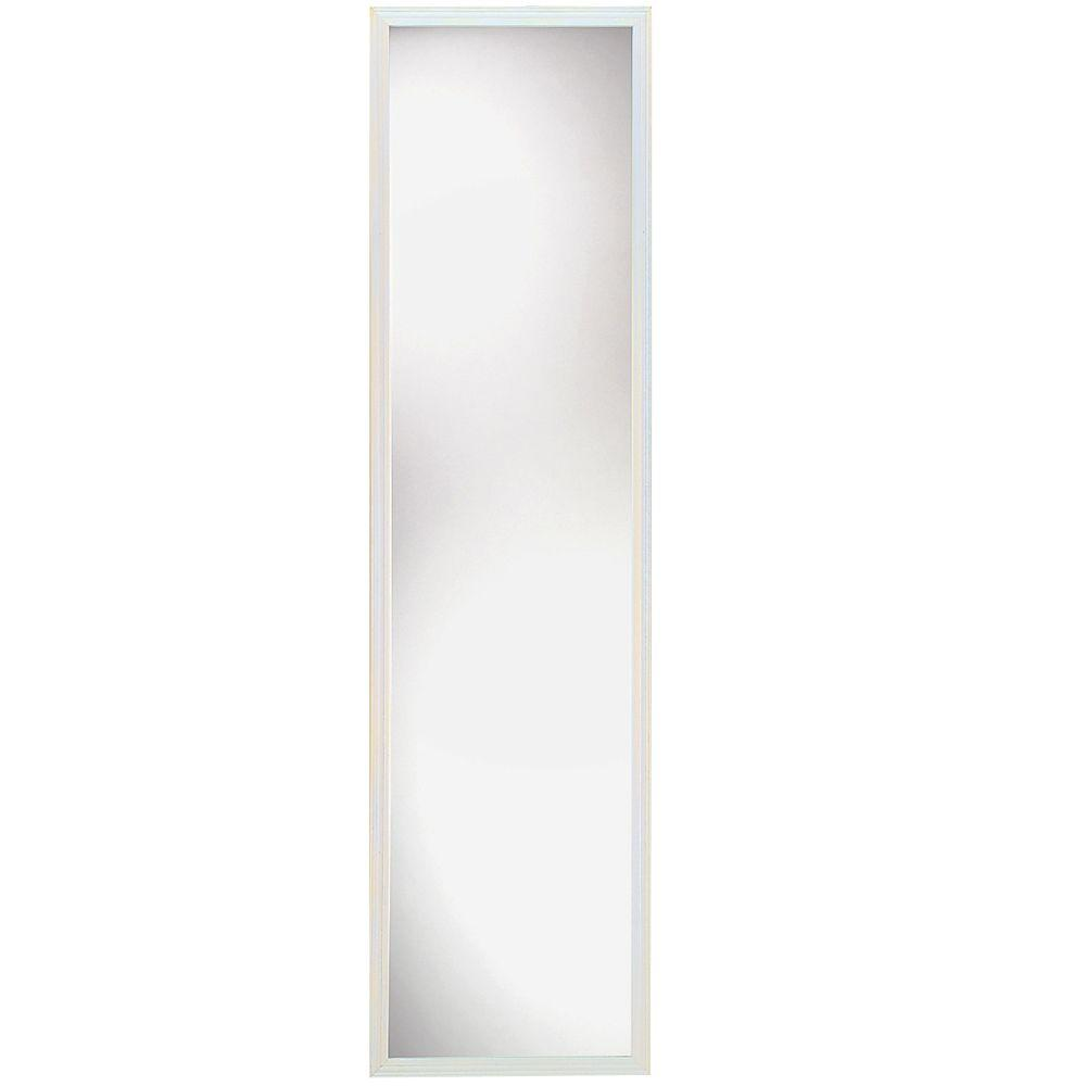 null Suave 49 in. x 13 in. White Traditional Framed Mirror