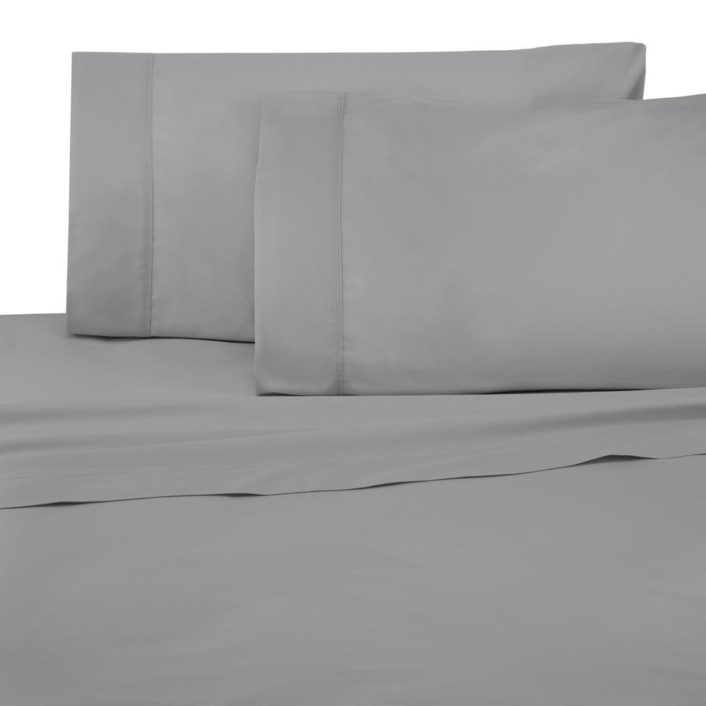 Under The Canopy Brushed Organic 3 Piece Drizzle Twin XL Sheet Set