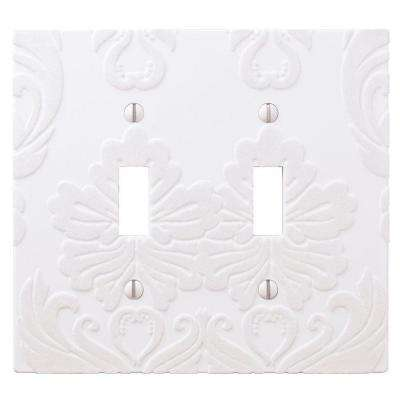 Demask 2 Toggle Wall Plate - White