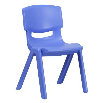 Blue Plastic Stackable School Chair with 15.5 in. Seat Height