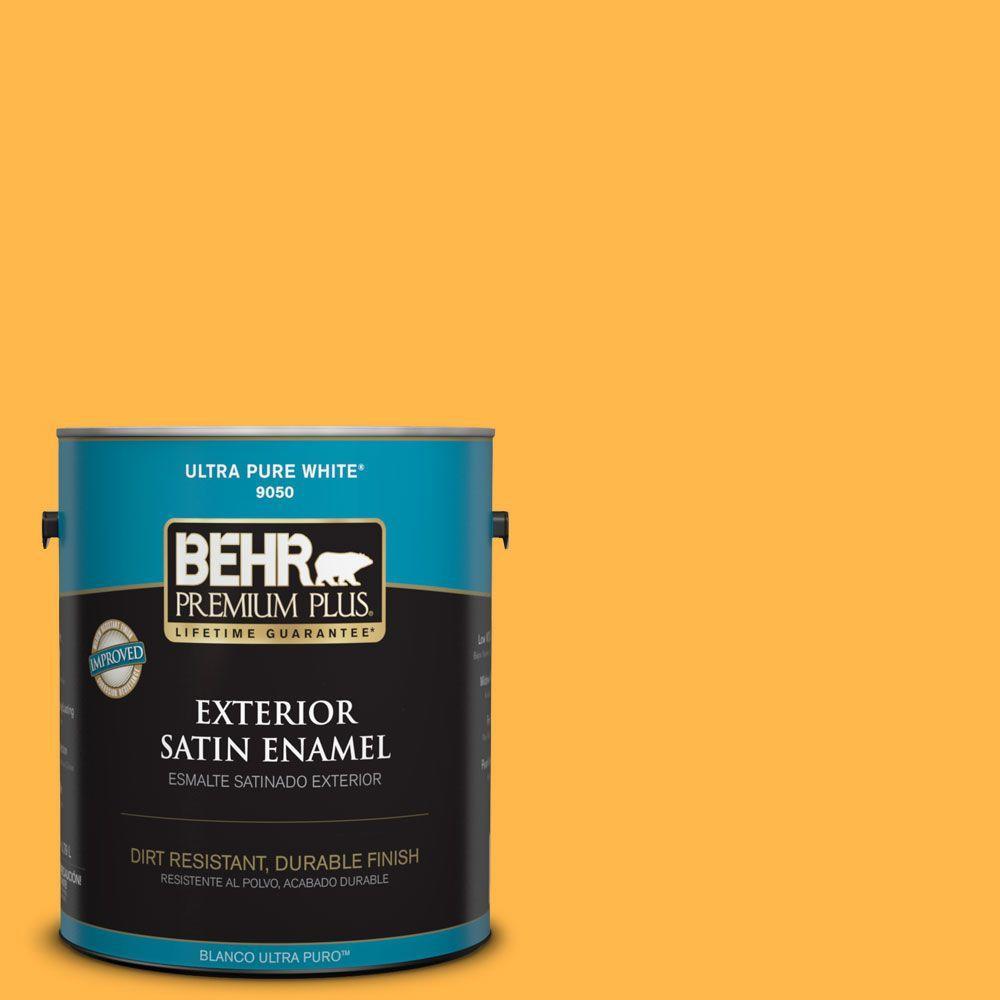 1-gal. #300B-6 Glorious Gold Satin Enamel Exterior Paint