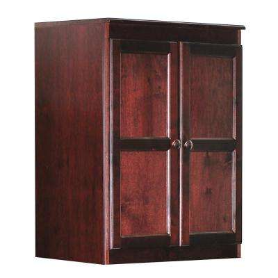Wood Kitchen Pantry Cabinet, 36 in. with 2 Shelves, Cherry Finish