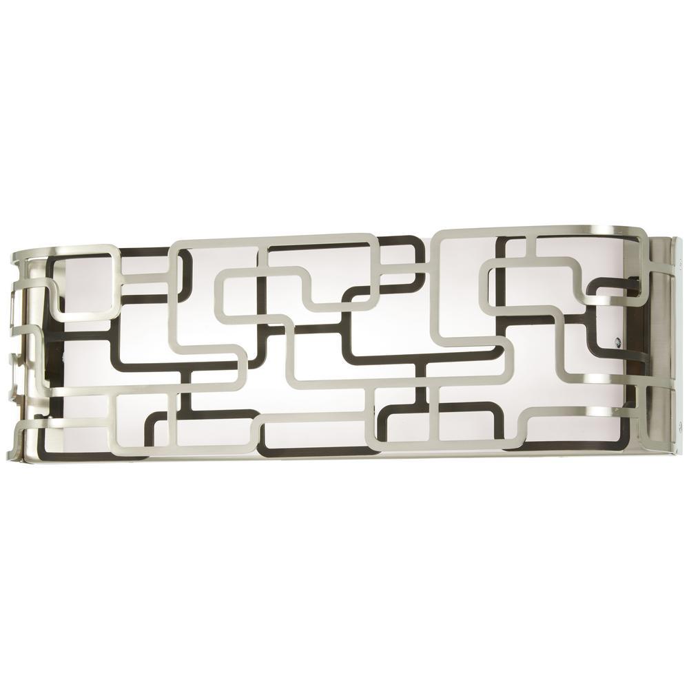 George Kovacs Alecia's Tiers Brushed Nickel LED Vanity Light Bar
