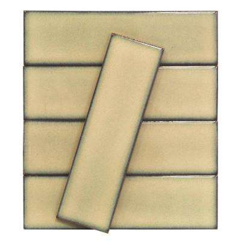 Vintage Khaki 3 in. x 9 in. x 10 mm Ceramic Wall Mosaic Tile (5 Tiles Per Unit)