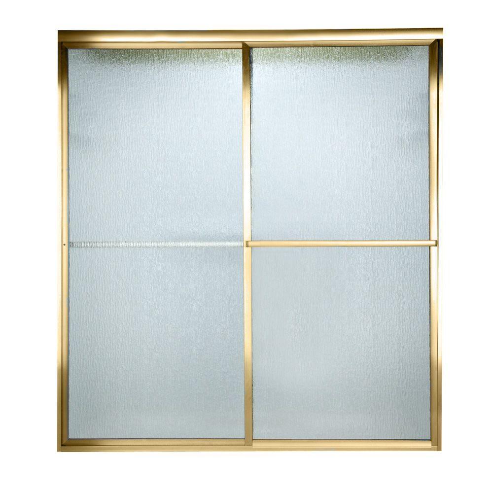 American Standard Prestige 60 in. x 58-1/2 in. Framed Sliding Shower ...