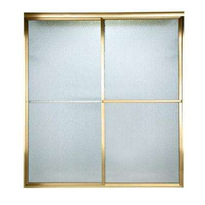 Prestige 60 in. x 58-1/2 in. Framed Bypass Shower Door in Gold with Rain Glass