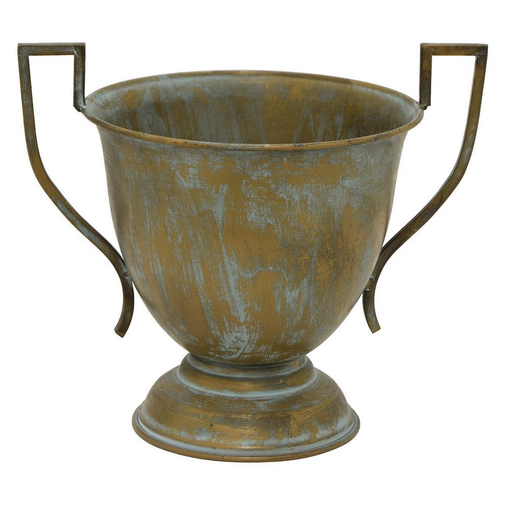 20.75 in. Gold Metal Trophy Decorative Vase