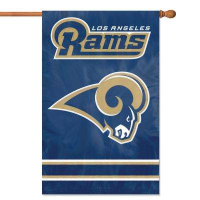Los Angeles Rams Applique Banner Flag