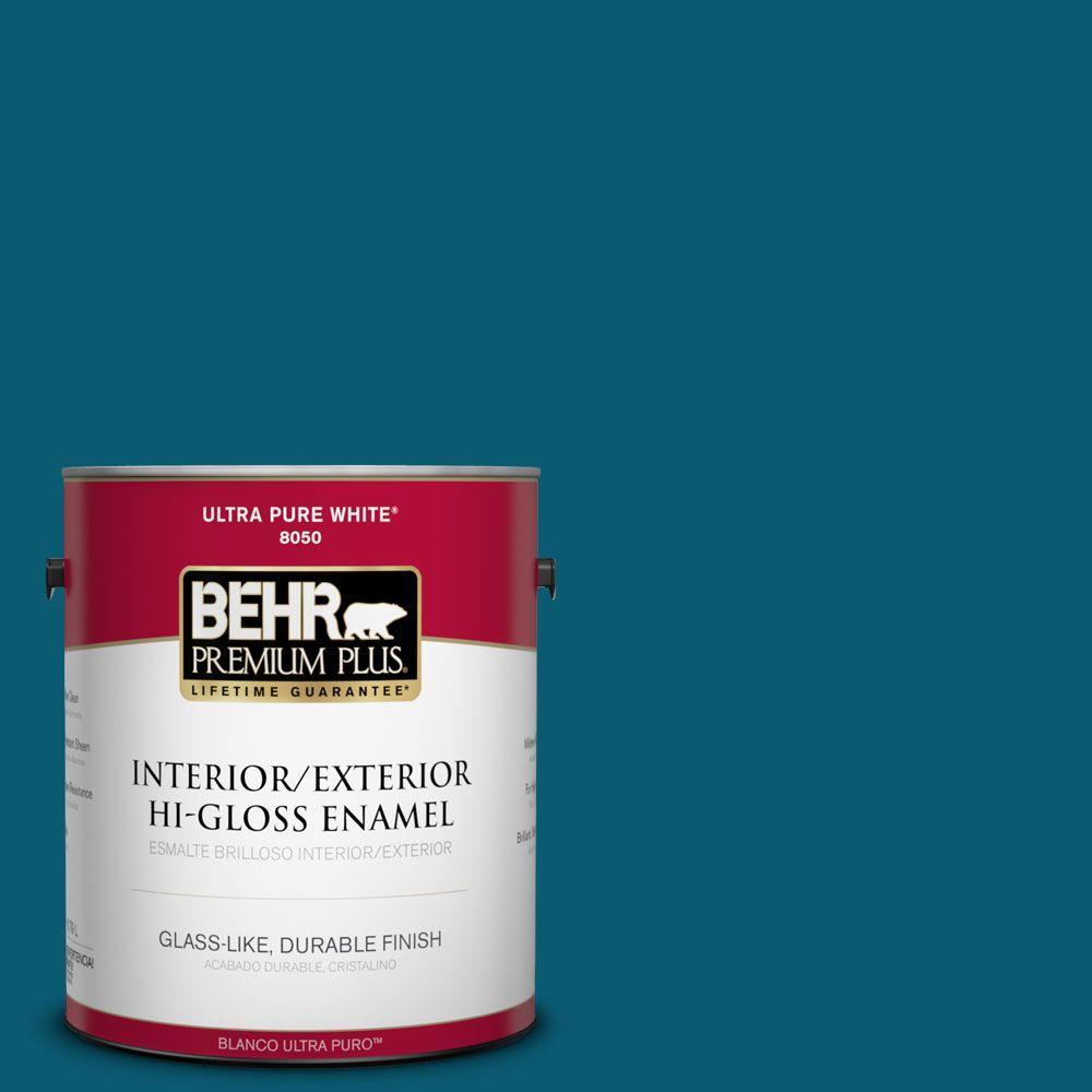 1-gal. #540D-7 Deep Blue Sea Hi-Gloss Enamel Interior/Exterior Paint