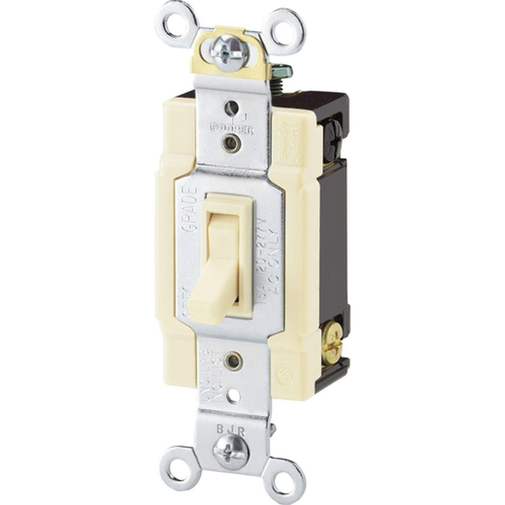 Eaton Standard Grade 15 Amp 4Way Toggle Switch With Side And Push - 4 Way Rocker Light Switch