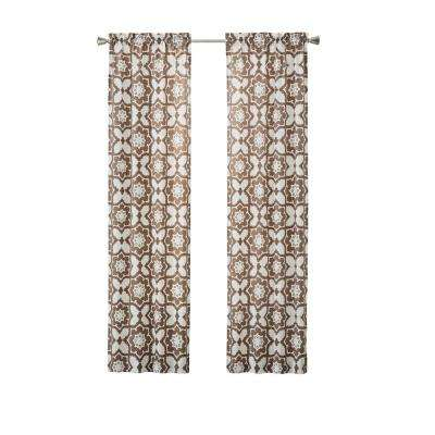 Udall 84 in. L Polyester Rod Pocket Drapery Panel Pair Cocoa