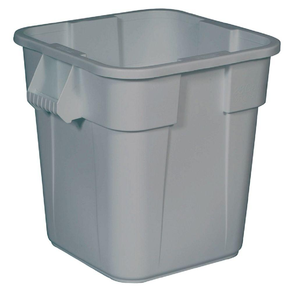 lidless indoor rubbermaid commercial products trash cans