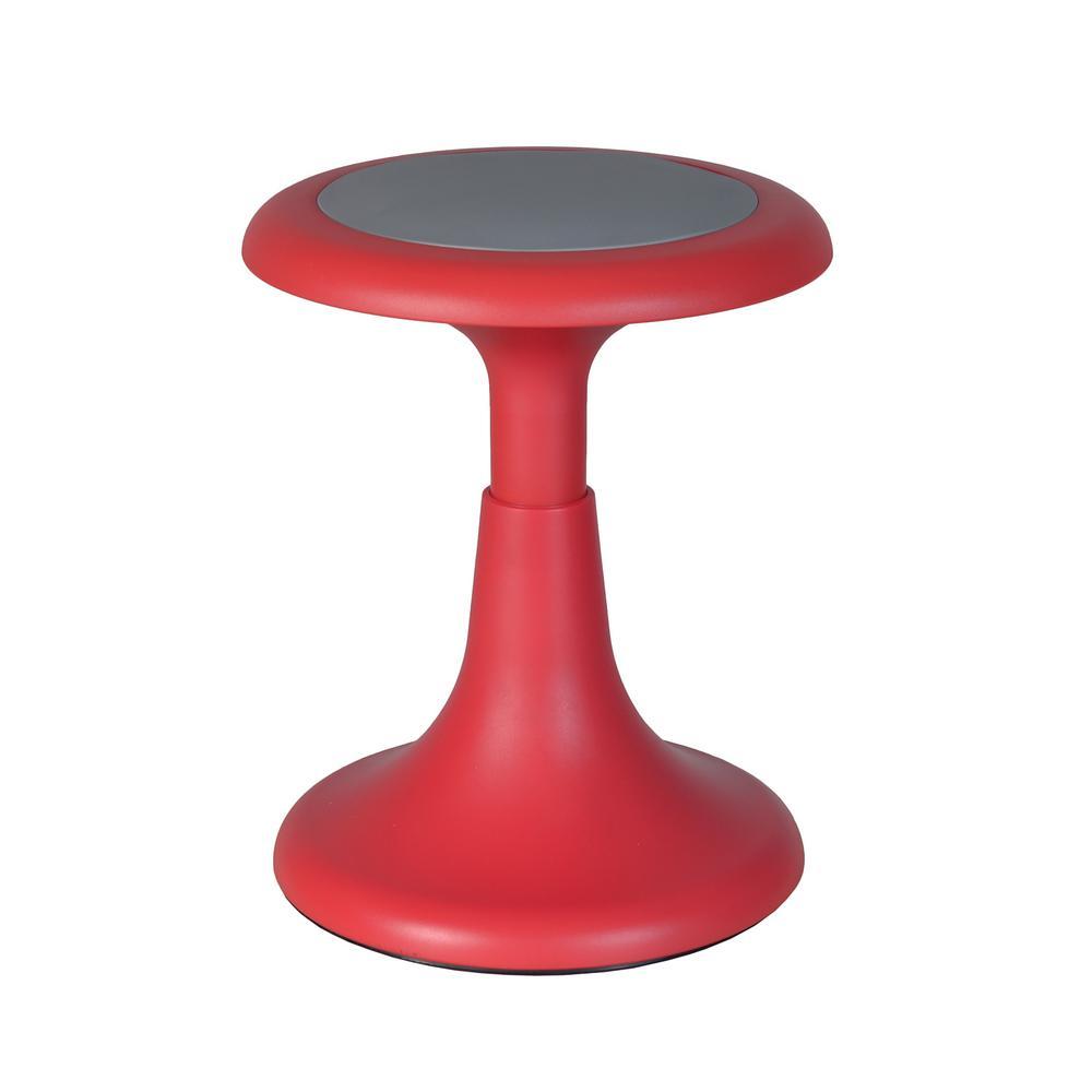 Regency Seating Glow 17 In. Red Wobble Stool-1640RD
