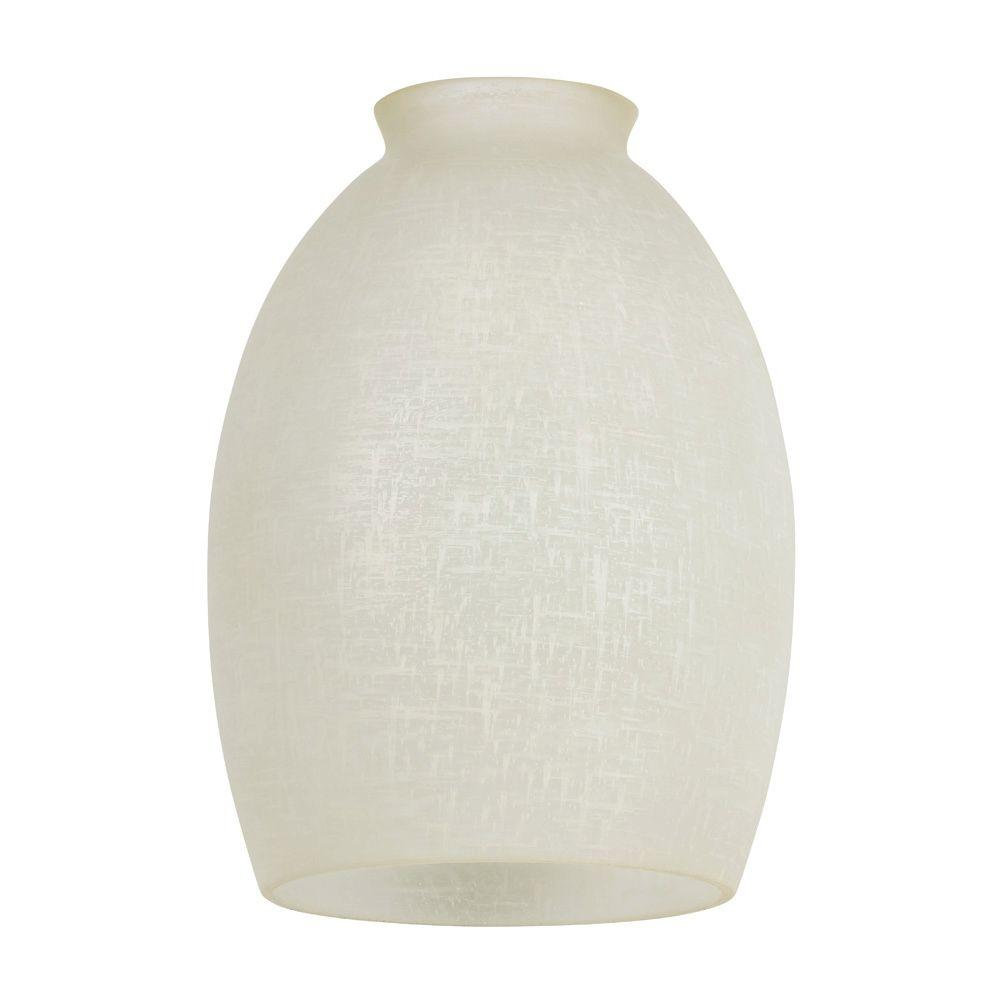 Handblown Devonshire Linen Glass Shade With 2