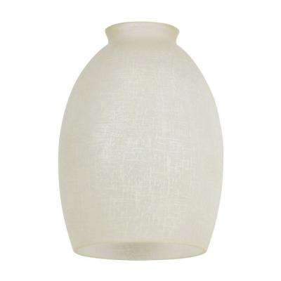 6-1/4 in. Handblown Devonshire Linen Glass Shade with 2-1/4 in. Fitter and 4-1/2 in. W