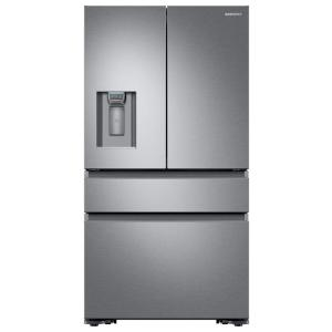Samsung 22.6 cu. ft. 4-Door French Door Refrigerator with Recessed Handle in Stainless Steel, Counter Depth by Samsung