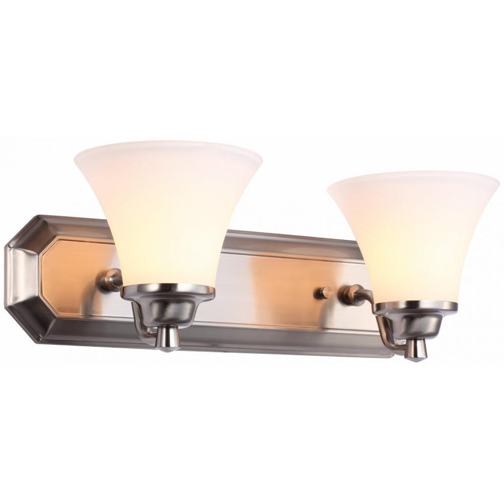 Adrienne 2-Light Satin Nickel Bath Light