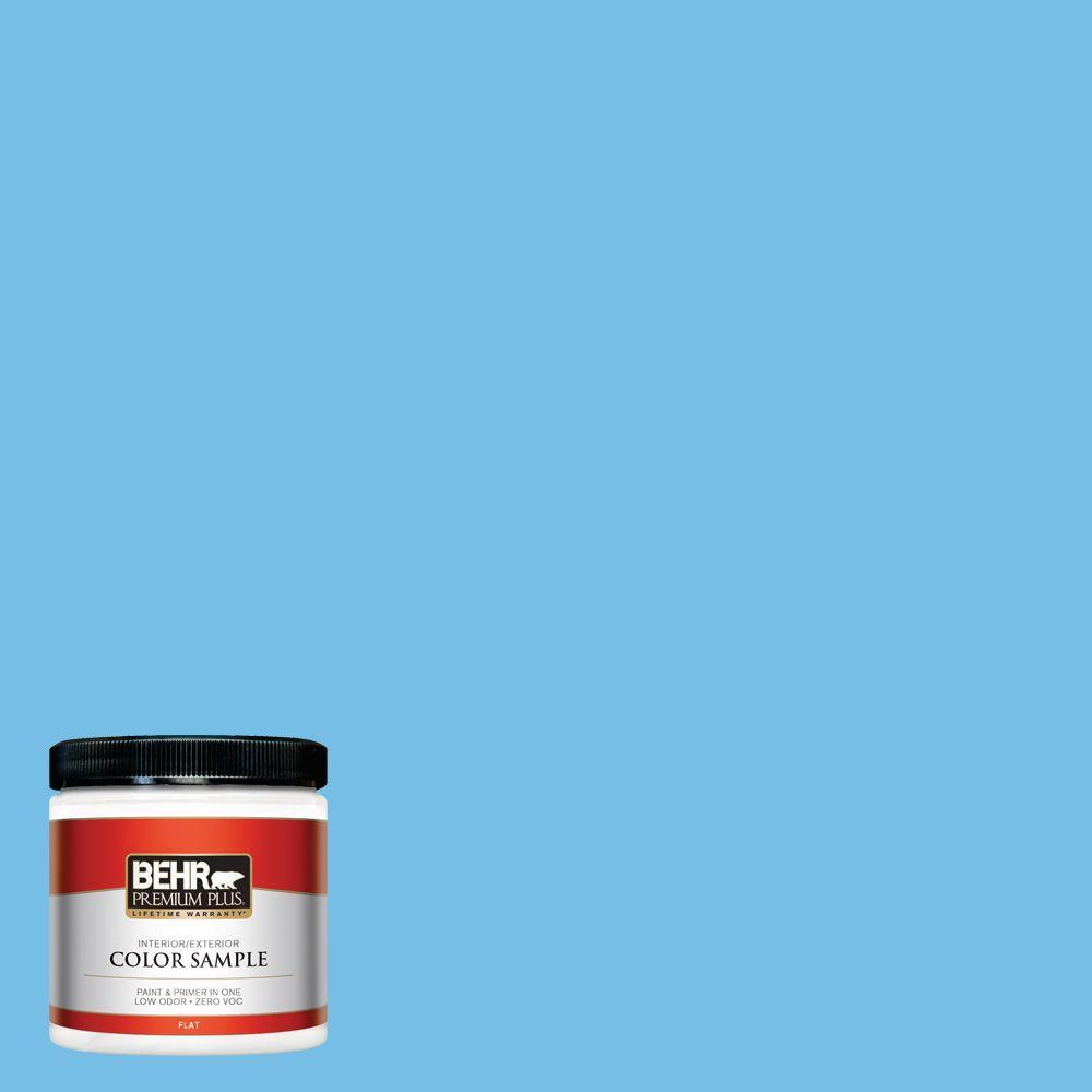 BEHR Premium Plus 8 oz. #550B-4 Costa Rica Blue Interior/Exterior Paint Sample