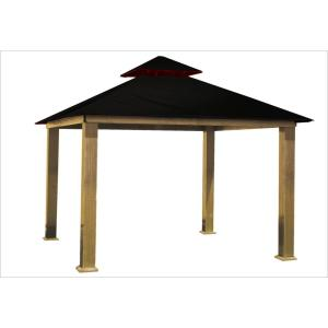 12 ft. x 12 ft. Black Gazebo by