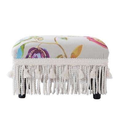Fiona Multicolored Footstool