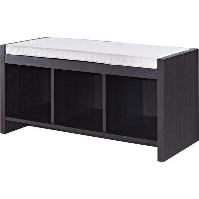 Pebblebrook Espresso Storage Bench