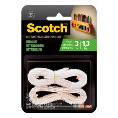 Scotch 3/4 in. x 18 in. White Indoor Fasteners (1 Set-Pack)