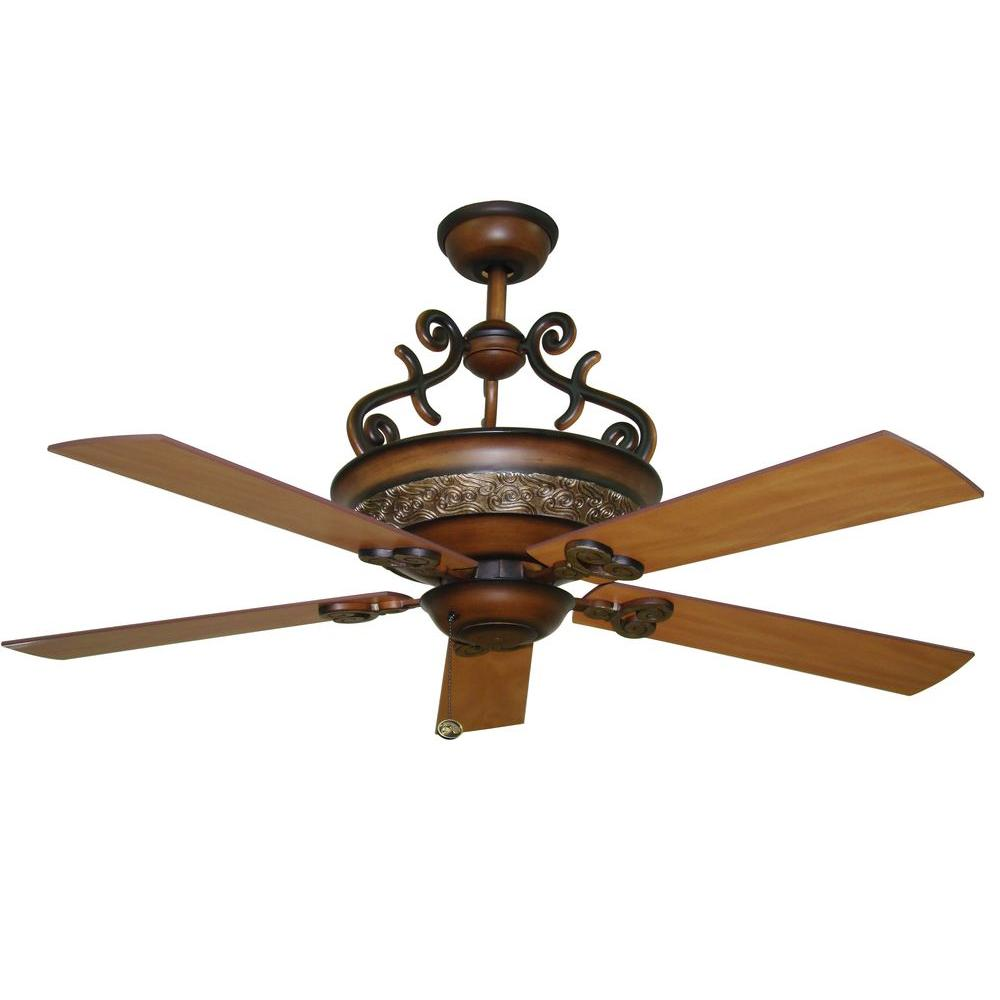 Hampton Bay Amisky 56 in. Cherry Patina Ceiling Fan-DISCONTINUED