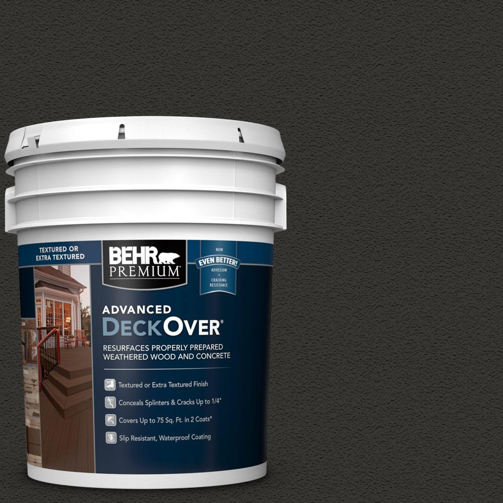 BEHR Premium Advanced DeckOver 5 gal. #SC-102 Slate Textured Solid Color Exterior Wood and Concrete Coating