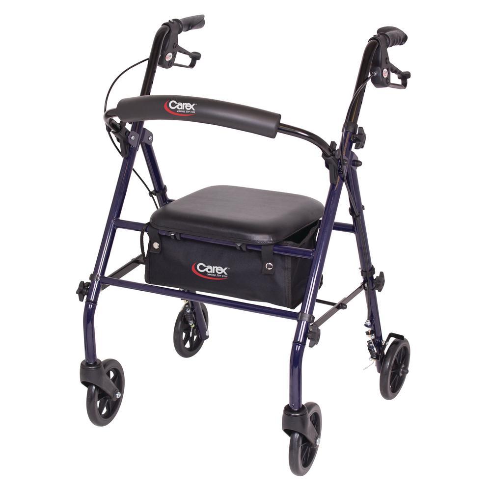 Carex Health Brands Steel Rolling Walker With 4 Wheels
