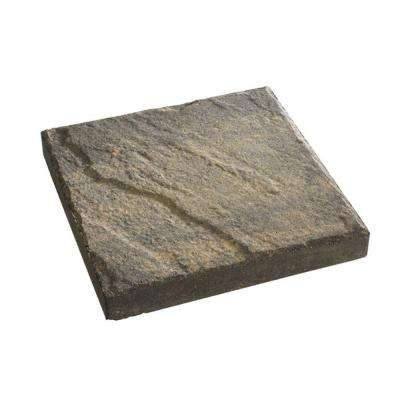 16 in. x 16 in. Charcoal/Tan Slate Top Concrete Step Stone