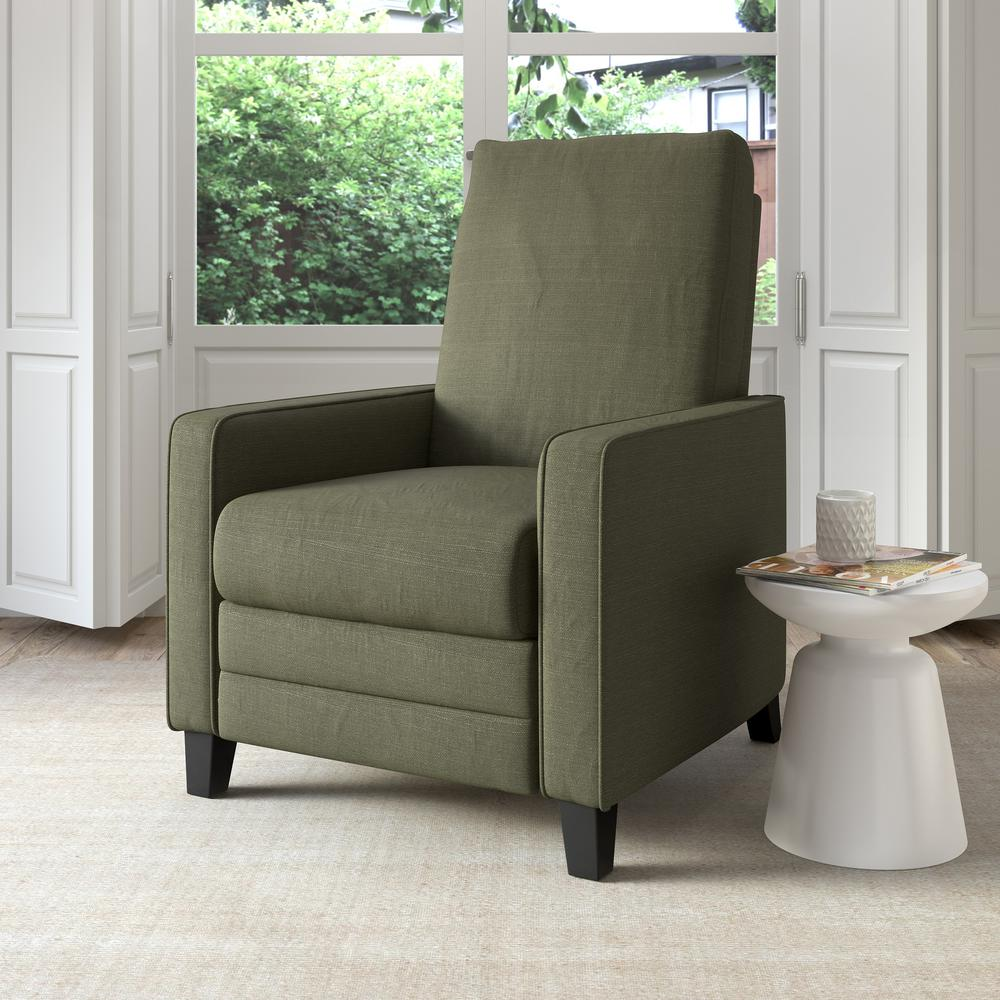 Kelsey Greenish-Grey Linen Fabric Recliner