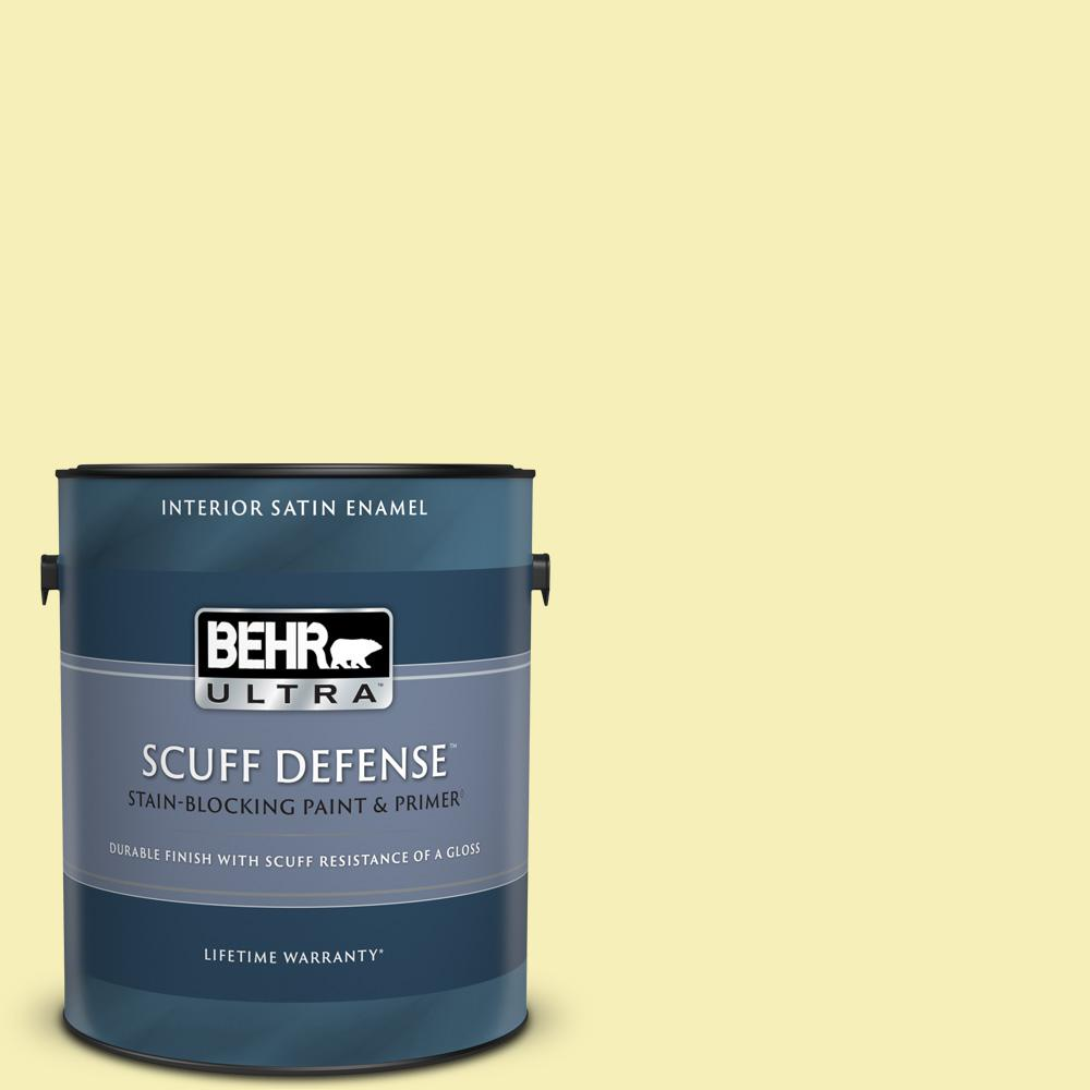 Behr Ultra 1 Gal 400a 2 Summer Resort Extra Durable Satin Enamel Interior Paint And Primer In One 775001 The Home Depot