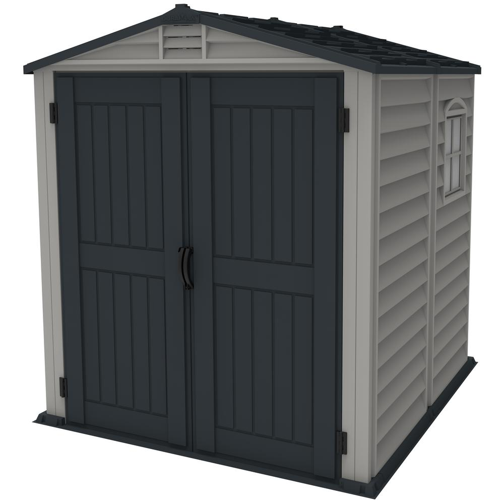 Duramax Building Products Store Mate Plus 6 ft. x 6 ft. Vinyl Shed with Floor