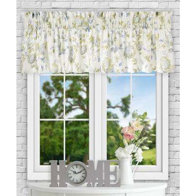 Abigail 15 in. L Polyester/Cotton Tailored Valance in Porcelain