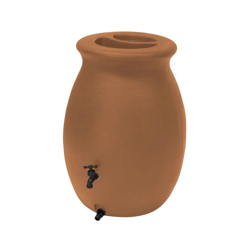 Castilla 50 Gal. Rain Barrel in Terracotta