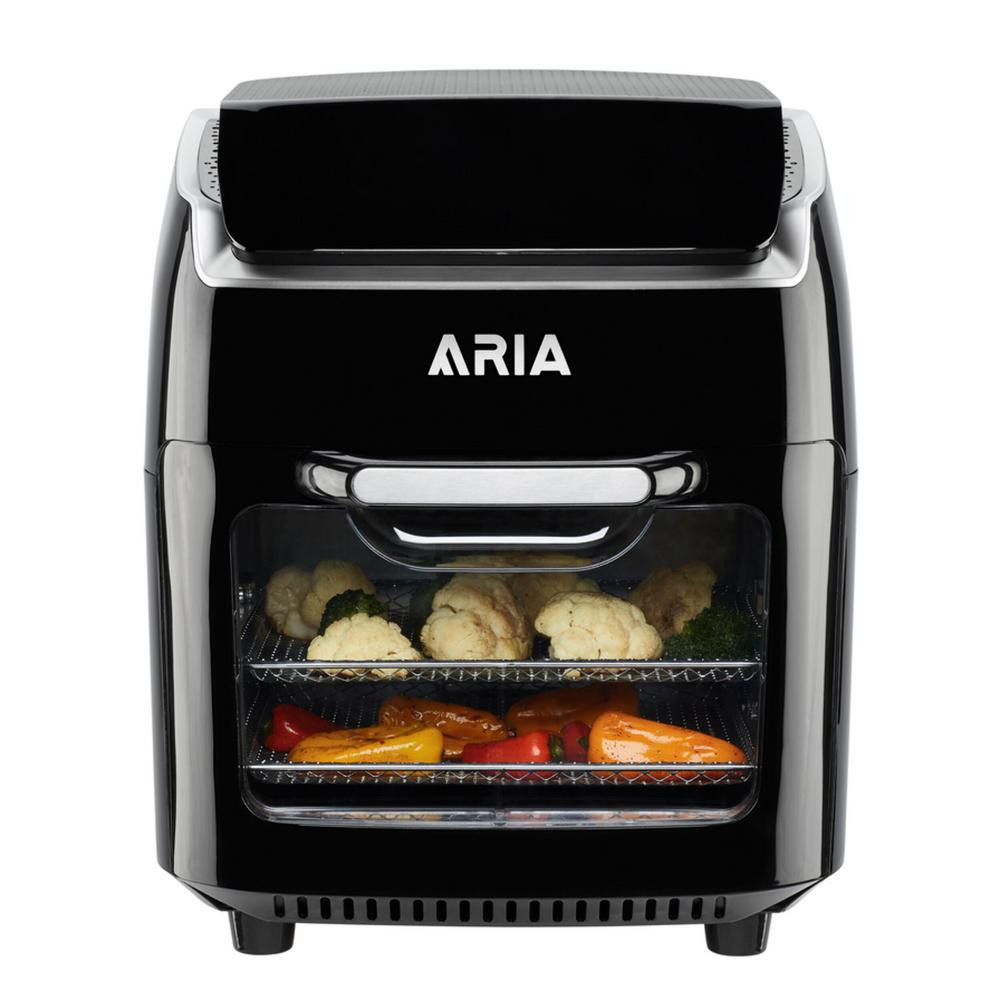 Aria 10 Qt. Black AirFryer with Recipe Book