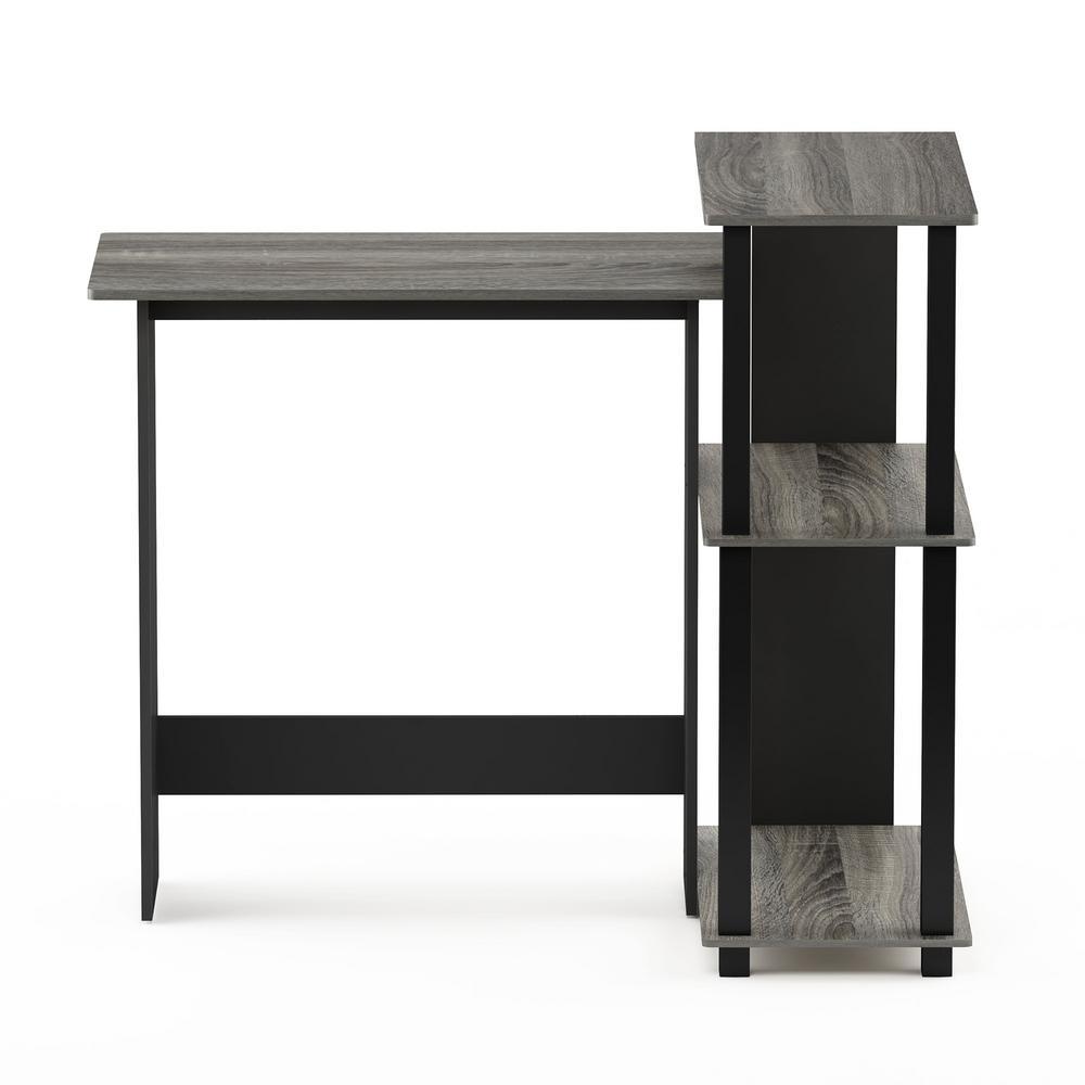 Furinno Abbott French Oak Gray Corner Computer Desk With