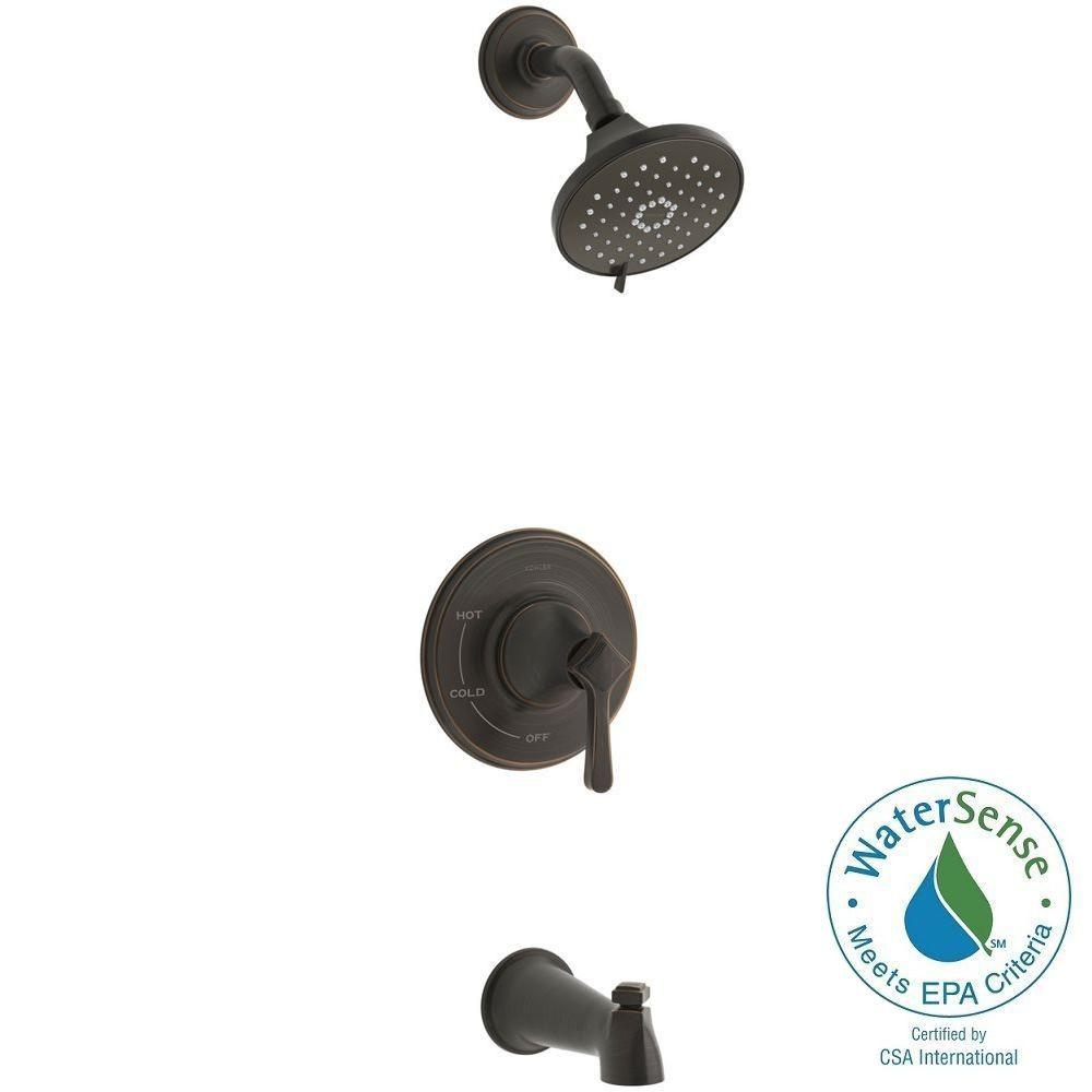 KOHLER Georgeson Single Handle 3 Spray Tub And Shower Faucet In Oil Rubbed  Bronze