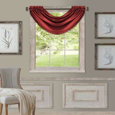 Elrene Versailles 52 in. W x 36 in. L Polyester Single Blackout Window Valance in Rouge